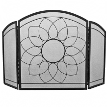 Sunflower 3 Fold Fireguard - Black